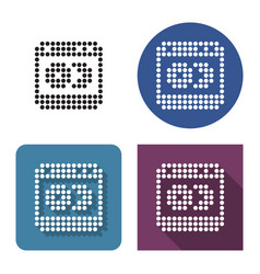 Dotted icon dishwashing machine in four vector