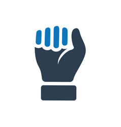 Durable hand power icon vector