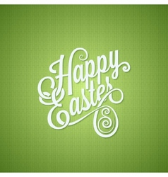 easter egg vintage lettering design background vector image
