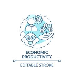 Economic productivity turquoise concept icon vector