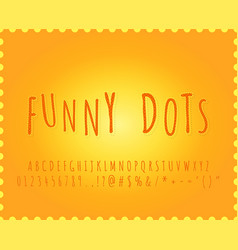 Free alphabet funny dots font effect vector