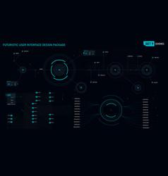 futuristic user interface design element set 09 vector image