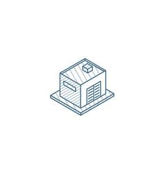 garage isometric icon 3d line art technical vector image