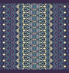 geometric vintage seamless pattern ornamental vector image