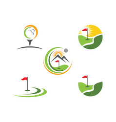 golf logo template icon design vector image