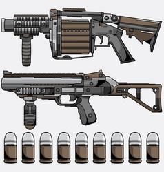grenade launcher vector image