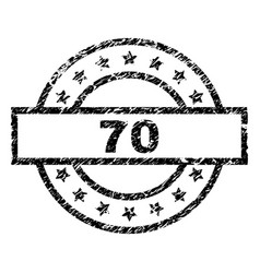 Grunge textured 70 stamp seal vector