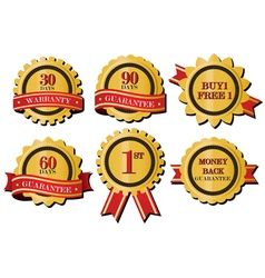 Guarantee ribbons vector