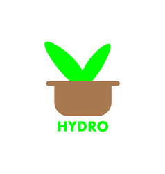 hydroponics solid iconsisolated on white vector image