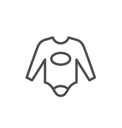 infant clothing line icon vector image