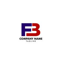 Initial letter fb logo template design vector