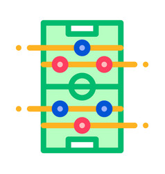 interactive kids table football sign icon vector image