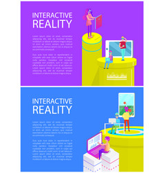 interactive reality people set vector image