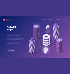 landing page for smart city technologies vector image