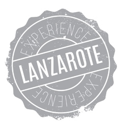 Lanzarote stamp rubber grunge vector
