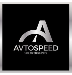 Letter a logo - auto speed luxury royal silver vector