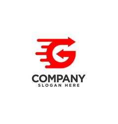 Letter g fast logo design template vector