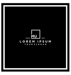 Letter mu square logo design vector