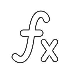 Math function linear icon vector