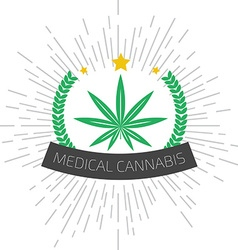 Medical cannabis logo Medical marijuana logo vector