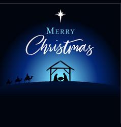 Merry christmas birth christ card vector