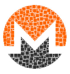 Monero currency collage of squares and circles vector