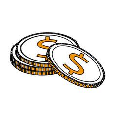 Money coins icon image vector