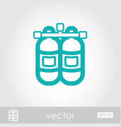 oxygen tank outline icon summer vacation vector image