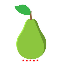 pear icon color fill style vector image
