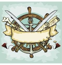 pirate logo design vector image