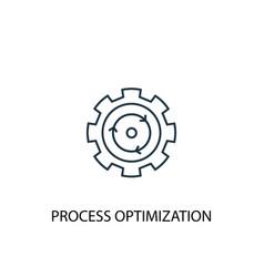 Process optimization concept line icon simple vector