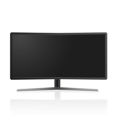 realistic tv monitor mockup isolated vector image