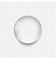 realistic water drop with shadow isolated on vector image