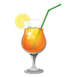 refreshing orange cocktail vector image