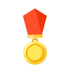 reward with red ribbon order insignia icon vector image