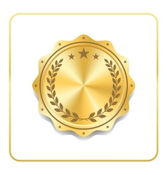 Seal award gold icon Blank medal vector