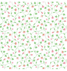 Seamless floral pattern with tiny pink flowers vector