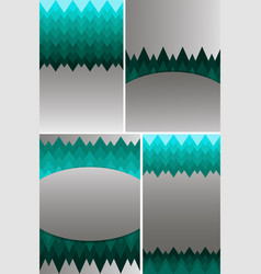 Set of different types of templates for cover vector