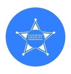 Sheriff icon black singe western icon from the vector