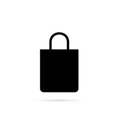 shopping bag icon with shadow vector image
