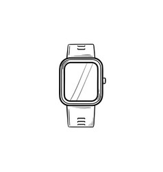smartwatch hand drawn outline doodle icon vector image