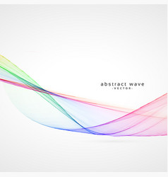 Smooth colorful abstract wave background vector