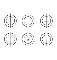 Sniper rifle scope weapon aim set targets and vector