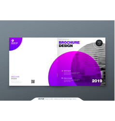 square brochure design violet purple corporate vector image