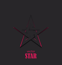Star 3d abstract symbol popularity concept vector