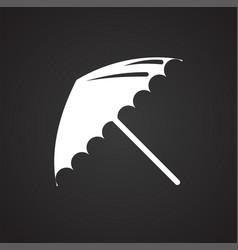 Studio photo umbrella icon on black background for vector