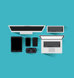 tecnology gadgets set icons vector image