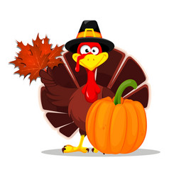 thanksgiving turkey happy thanksgiving day vector image
