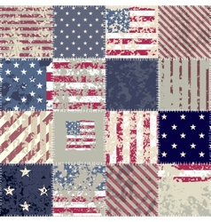 The patchwork of flag USA vector