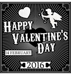 Typographic Valentines Day Retro Background Vintag vector image